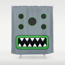 Evil Grey 1 Shower Curtain
