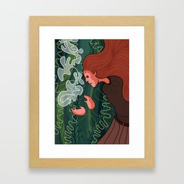 wood witch Framed Art Print