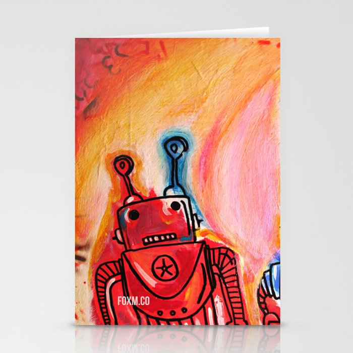 Robots Get Shit Done Stationery Cards