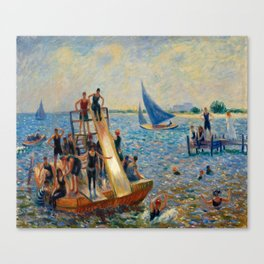 The Raft, William James Glackens, 1915 Canvas Print