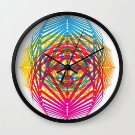 4 Corners of Abundance (wide) Wall Clock