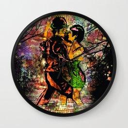 Tango:  Dance The Tango With Me My Love #3 Wall Clock