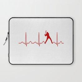 SOFTBALL MAN HEARTBEAT Laptop Sleeve