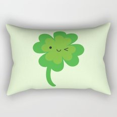 Kawaii Lucky Four Leaf Clover Rectangular Pillow