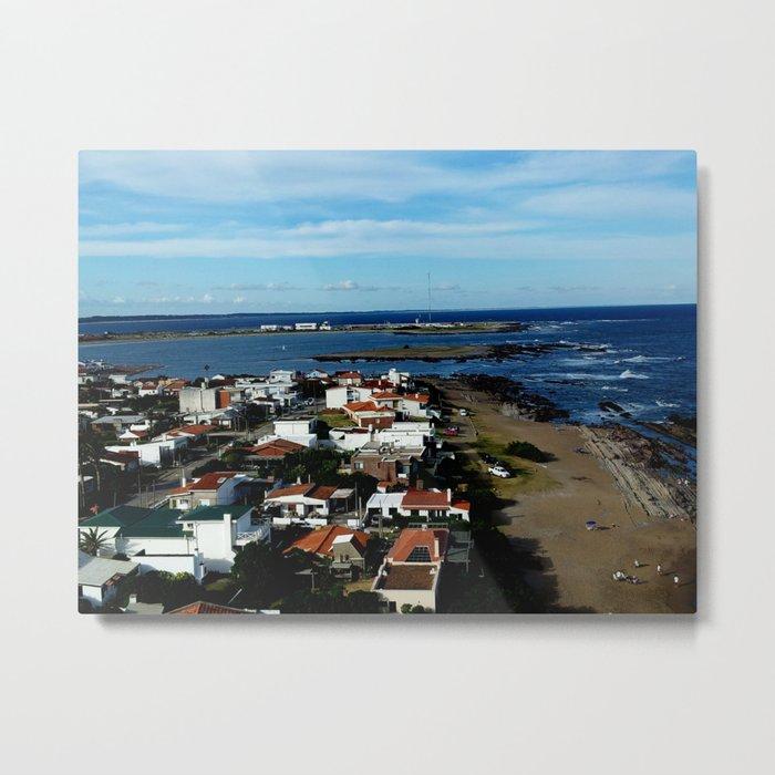 Playa, color, textura. Metal Print
