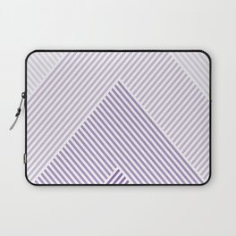 Shades of Purple Abstract geometric pattern Laptop Sleeve