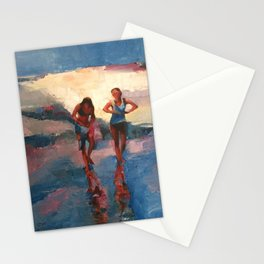 GIRLS ON THE BEACH Stationery Cards