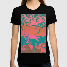 Purple storm, abstract hurricane in orange, blue and purple T-shirt