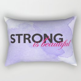 Strong is beautiful: breast cancer strong Rectangular Pillow