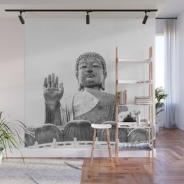 The Big Buddha in Black and White #decor #society6 #buyart Wall Mural
