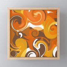 Magma Swirls Framed Mini Art Print