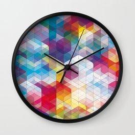 Cuben Curved #4 Wall Clock