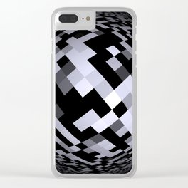 black-and-white -05- Clear iPhone Case