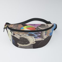 Collage Worlds Inside The Worlds Fanny Pack