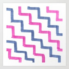 Missoni Stairs Art Print