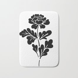 Black Rose Bath Mat