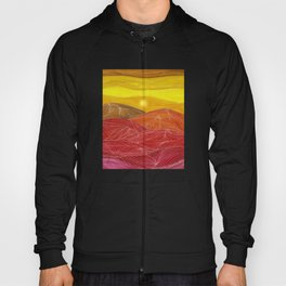 Lines in the mountains IX Hoody