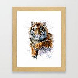 Tiger watercolor Framed Art Print
