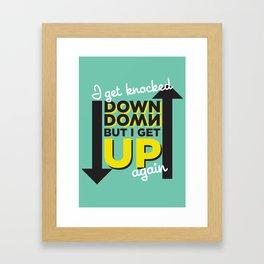 Knocked Down Framed Art Print