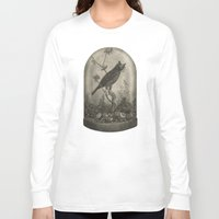 bird Long Sleeve T-shirts featuring The Curiosity  by Terry Fan