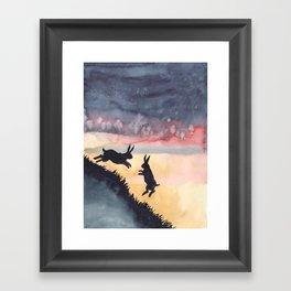 Sunset Leap Framed Art Print