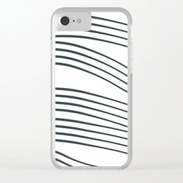 Black Stripes Clear iPhone Case