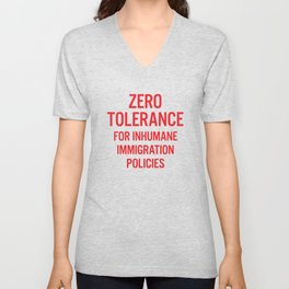 Zero tolerance for... (Red text) Unisex V-Neck