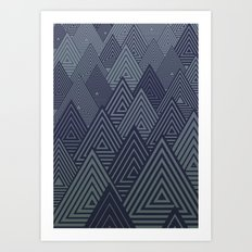 Indigo Forest Art Print