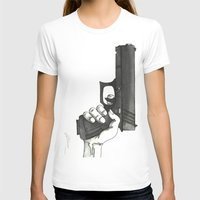 gun T-shirts featuring GUN by Takeru Amano