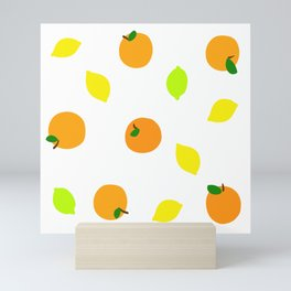 Citrus with Yellow, Orange and Green Oranges, Lemons and Limes Mini Art Print