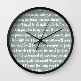 Imagine Song Wall Clock