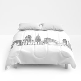 NYC Landmarks by the Downtown Doodler Comforters