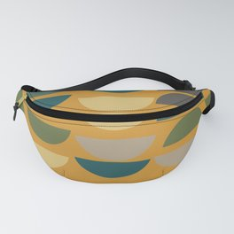 Geometric Graphic Design Shapes Pattern in Mustard Yellow Fanny Pack