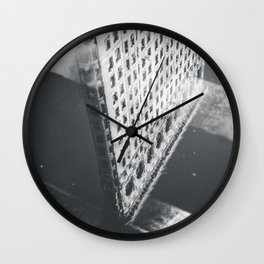 Flat Iron Building - NYC Reflection Wall Clock