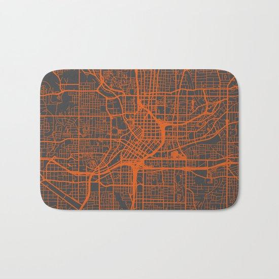 Atlanta map Bath Mat