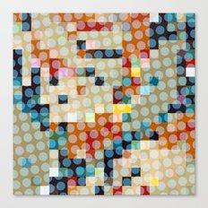 dots meet pixels Canvas Print