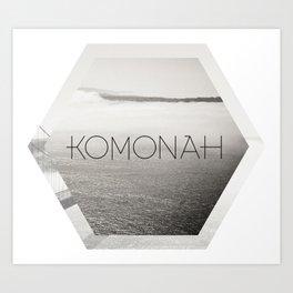 KOMONAH Font Design Art Print