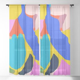 Unbridled Enthusiasm - Shapes and Layers no.38 Sheer Curtain