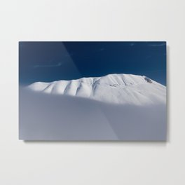 vettore mount with snow  Metal Print