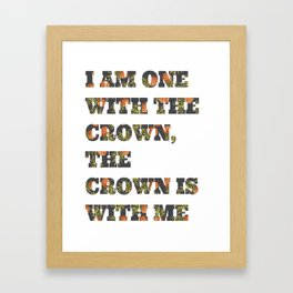 One With the Crown Framed Art Print