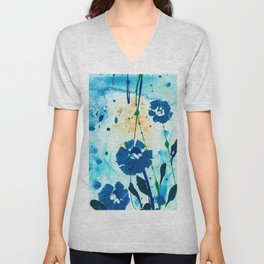 Dreaming In Blue 100i by Kathy Morton Stanion Unisex V-Neck