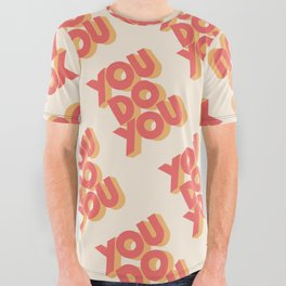 You Do You Block Type All Over Graphic Tee