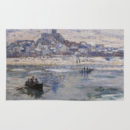 Vétheuil in Winter Rug