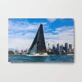 Winter Yachting on Sydney Harbour. Australia Metal Print