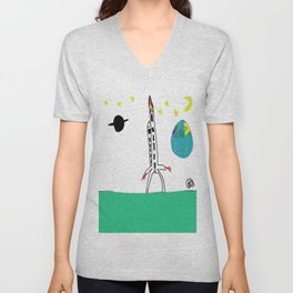 Earth from Space Unisex V-Neck