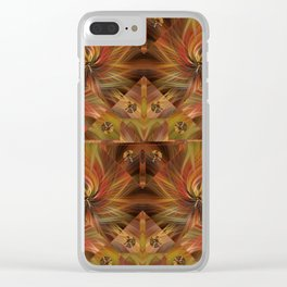 Autumn Twirled Clear iPhone Case