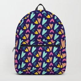 Navy Tiny Hearts Backpack