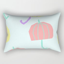 If We Are Together - colorful illustration pastel color umbrella pattern nursery Rectangular Pillow