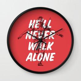Steven Gerrard Liverpool FC Motto Wall Clock