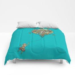 Balloon Girl Comforters